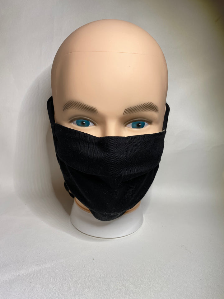 organic face cover  black