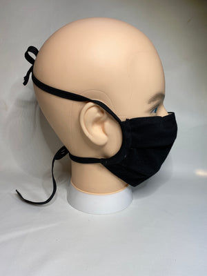 organic face cover  black side