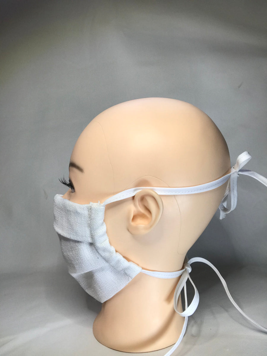 organic face cover white side view