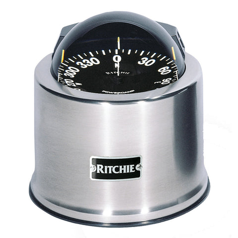Ritchie SP-5-C GlobeMaster Compass - Pedestal Mount - Stainless Steel - 12V - 5 Degree Card [SP-5-C]