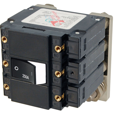 Blue Sea 7477 C - Series Flat Circuit Breaker, Single and Double Pole  -  250 Amp [7477]
