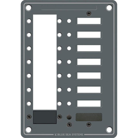 Blue Sea 8087 8 Position DC C-Series Panel - Blank [8087]