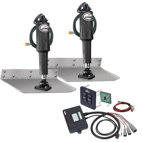 "Lenco 9"" x 18"" Standard Trim Tab Kit w/Standard Tactile  Switch Kit 12V [TT9X18]"