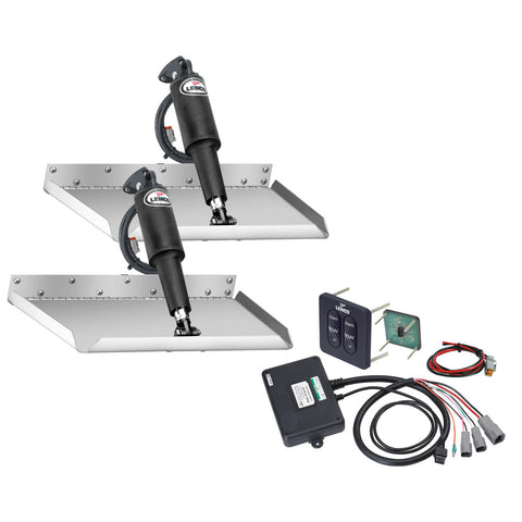 "Lenco 12"" x 12"" Edgemount Trim Tab Kit w/Standard Tactile Switch Kit 12V [15106-102]"