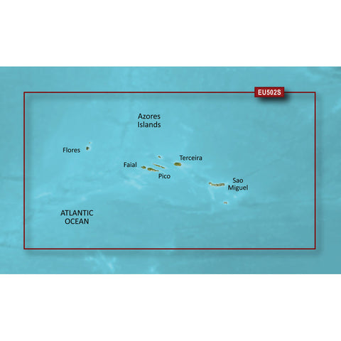 Garmin BlueChart g3 Vision HD - VEU502S - Azores Islands - microSD/SD [010-C0846-00]