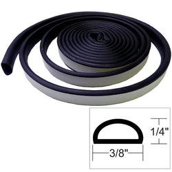 "TACO Weather Seal - 10'L x 1/4""H x 3/8""W - Black [V30-1333B10-1]"