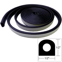 "TACO Weather Seal - 10'L x 1/2""W x 1/2""H - Black [V30-0202B10-1]"