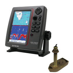 SI-TEX SVS-760CF Dual Frequency Chartplotter-Sounder w- Navionics+ Flexible Coverage & 307-50-200T 8P Transducer [SVS-760CFTH1]