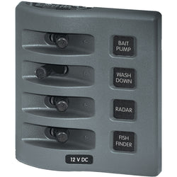Blue Sea 4305 WeatherDeck 12V DC Waterproof Switch Panel - 4 Posistion [4305]
