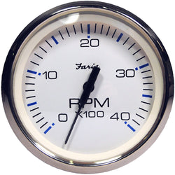 "Faria Chesapeake White SS 4"" Tachometer - 4,000 RPM (Diesel - Magnetic Pick-Up) [33818]"