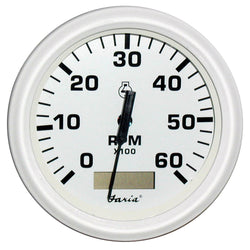 "Faria Dress White 4"" Tachometer w/Hourmeter - 6,000 RPM (Gas - Inboard) [33132]"