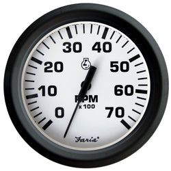 "Faria Euro White 4"" Tachometer - 7,000 RPM (Gas - All Outboards) [32905]"