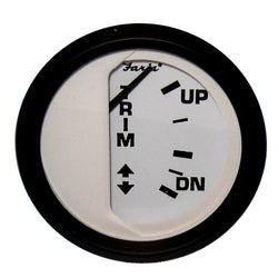 "Faria Euro White 2"" Trim Gauge (Mercury / Mariner / Mercruiser / Volvo DP / Yamaha-2001 and newer) [12916]"
