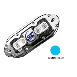 Shadow-Caster SCM-4 LED Underwater Light w-20' Cable - 316 SS Housing - Bimini Blue [SCM-4-BB-20]