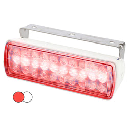 Hella Marine Sea Hawk XL Dual Color LED Floodlights - Red/White LED - White Housing [980950051]