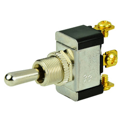 BEP SPDT Chrome Plated Toggle Switch - (ON)-OFF-(ON) [1002004]