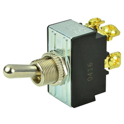BEP DPST Chrome Plated Toggle Switch - OFF/ON [1002017]