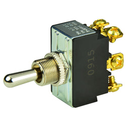 BEP DPDT Chrome Plated Toggle Switch - (ON)-OFF-(ON) [1002012]
