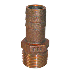 "GROCO 1-1-4"" NPT x 1-1-4"" ID Bronze Pipe to Hose Straight Fitting [PTH-1250]"