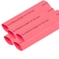 "Ancor Heat Shrink Tubing 1-2"" x 6"" - Red - 5 Pieces [305606]"