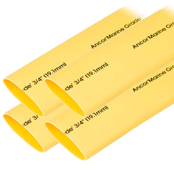"Ancor Heat Shrink Tubing 3/4"" x 6"" - Yellow - 4 Pieces [306906]"