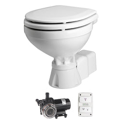 Johnson Pump AquaT Toilet Silent Electric Compact - 12V w/Pump [80-47231-01]