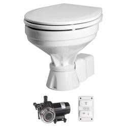 Johnson Pump AquaT Toilet Silent Electric Comfort - 12V w/Pump [80-47232-01]