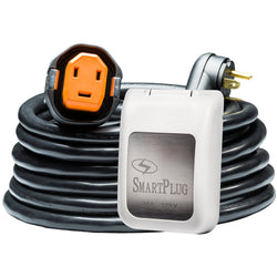 SmartPlug RV Kit 30 Amp 30 Dual Configuration Cordset - Black (SPX X Park Power)  Non Metallic Inlet - White [R30303BM30PW]
