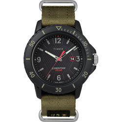 Timex Gallatin Nylon Slip-Thru Watch - Solar Green/Black Dial [TW4B14500JV]