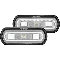 RIGID Industries SR-L Series Surface Mount Spreader Light - Black Housing - White Halo [53120]