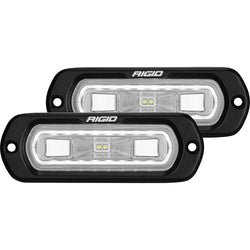 RIGID Industries SR-L Series Flush Mount Spreader Light - Black Housing - White Halo [53220]
