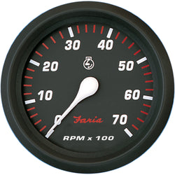 "Faria Professional Red 4"" Tachometer - 7,000 RPM [34617]"
