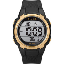 Timex T100 Black-Gold - 150 Lap [TW5M33600SO]