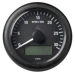 "VDO Marine 3-3/8"" (85MM) ViewLine Tachometer w/Multi-Function Display - 0 to 3000 RPM - Black Dial  Bezel [A2C59512390]"