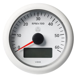 "VDO Marine 3-3/8"" (85MM) ViewLine Tachometer w/Multi-Function Display - 0 to 6000 RPM - White Dial  Bezel [A2C59512399]"