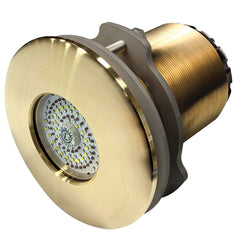 Lumitec SeaBlaze Typhoon Underwater Light - Bronze Thru-Hull - White-Blue - Flush Mount [101450]