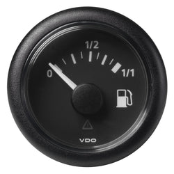 "VDO Marine 52mm (2-1-16"") ViewLine Fuel Tank Level Gauge 0-1-1 - 8-32V - 90-4 OHM - Black Dial  Round Bezel [A2C59514079]"