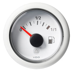 "VDO Marine 52mm (2-1-16"") ViewLine Fuel Tank Level Gauge 0-1-1 - 8-32V - 90-4 OHM - White Dial  Round Bezel [A2C59514182]"