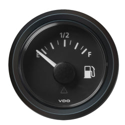 "VDO Marine 2-1-16"" (52MM) Viewline Fuel Level Gauge Empty-Full - 8-32V - 240 - 33.5 OHM - Black Dial  Triangular Bezel [A2C59514096]"