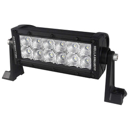 "Hella Marine Value Fit Sport Series 12 LED Flood Light Bar - 8"" - Black [357208001]"