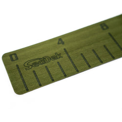 "SeaDek 4"" x 36"" 3mm Fish Ruler w-Laser SD Logo - Olive Green [22135-80050]"