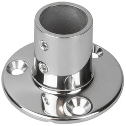 "Sea-Dog Rail Base Fitting 2-3-4"" Round Base 90 316 Stainless Steel - 1"" OD [280901-1]"