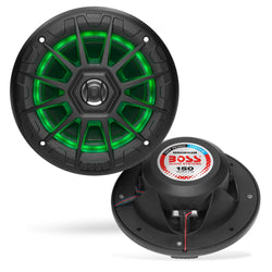 "Boss Audio MRGB55B 5.25"" Marine Speakers w/RGB Lighting - Black [MRGB55B]"