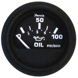 "Faria 2"" Heavy Duty Oil Pressure Gauge - 100 PSI - Black Dial  SS Bezel [24004]"