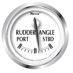 "Faria Newport SS 2"" Rudder Angle Indicator Gauge [25006]"