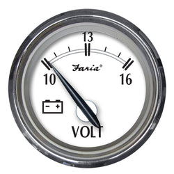 "Faria Newport SS 2"" Voltmeter - 10 to 16V [25009]"
