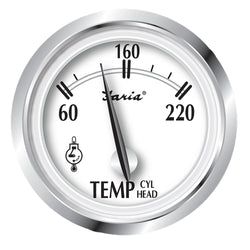 "Faria Newport SS 2"" Cylinder Head Temperature Gauge w/Sender - 60 to 220 F [25011]"