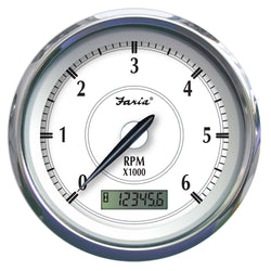 "Faria Newport SS 4"" Tachometer w/Hourmeter f/Gas Outboard - 7000 RPM [45005]"
