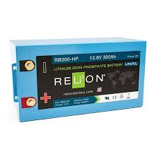 RELiON RB300 HP 12V 300Ah LiFePO4 Battery