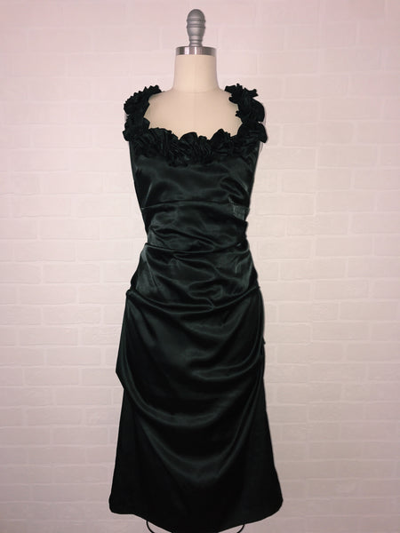 Dark Roses Dress Black